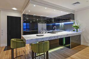 استفاده از شیشه در آشپزخانه