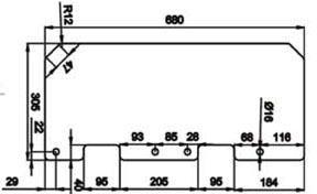 نقشه شیشه گیت کنترل تردد